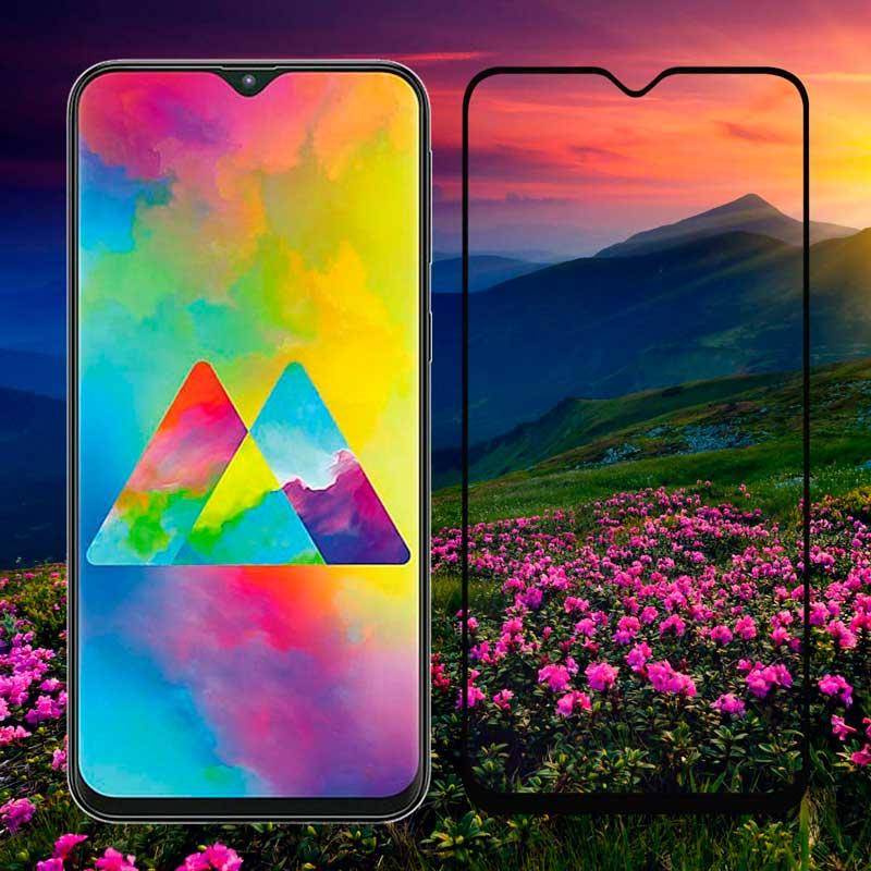 Защитное стекло 5D Samsung Galaxy M20 (M205) Full Glue фото