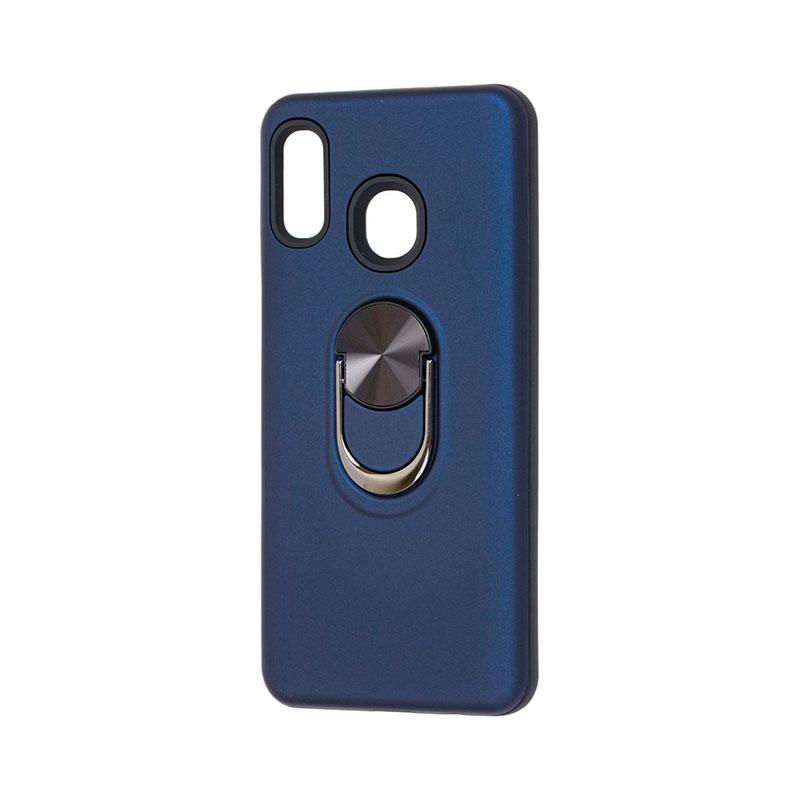 Противоударный чехол для Samsung Galaxy A20 (A205) SoftTouch с кольцом фото 2