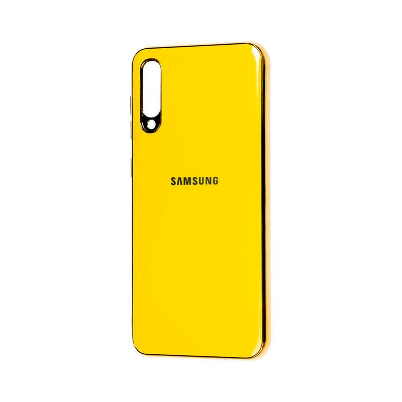 Чехол для Samsung Galaxy A70 (A705) Glass Silicone Case фото 1