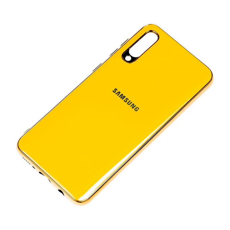 Чехол для Samsung Galaxy A70 (A705) Glass Silicone Case фото 3