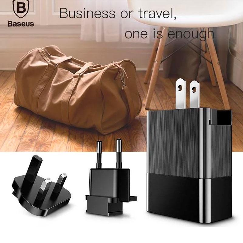 Сетевое зарядное устройство Baseus Duke Universal Travel Charger 3.4A 3USB фото 1