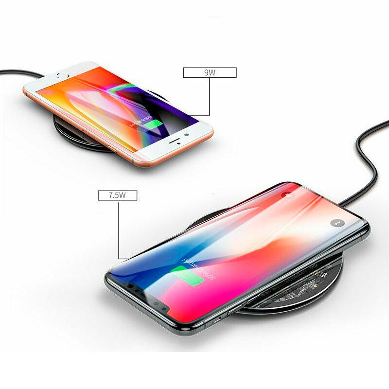 Беспроводная зарядка Baseus Simple Transparent Wireless Charger 10W Black фото 3