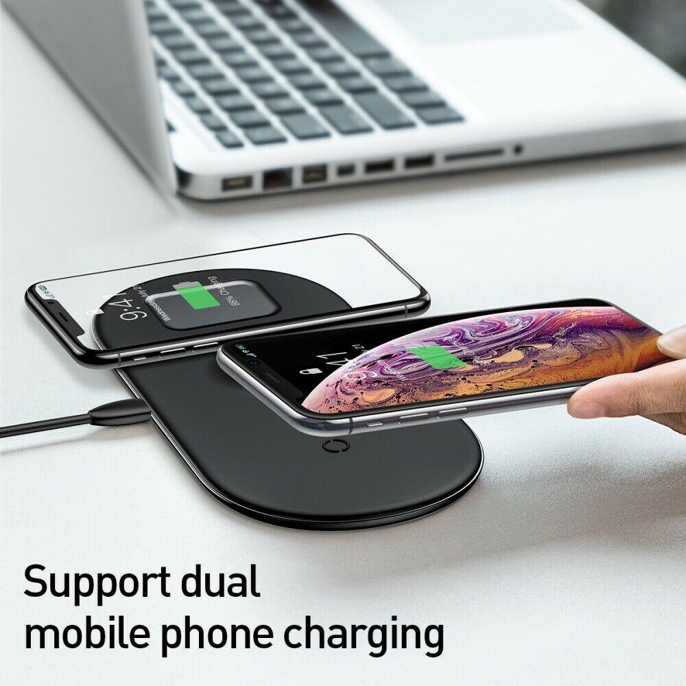 Беспроводная зарядка Baseus Smart 3in1 iPhone+iWatch+AirPods 18W Black фото 3