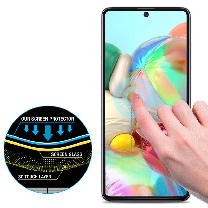 5D Защитное стекло для Samsung Galaxy A71 (A715) Full Glue с полной проклейкой фото 1